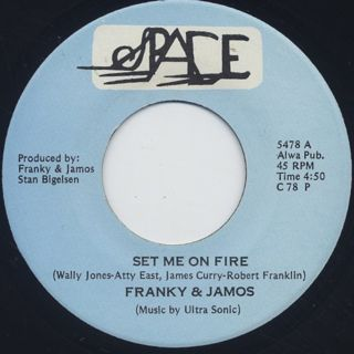 Franky & Jamo / Set Me On Fire c/w Ultra Sonic / Capricorn Man back