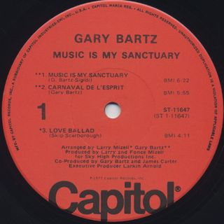 Gary Bartz / Music Is My Sanctuary label