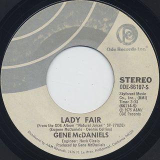 Gene McDaniels / Lady Fair c/w River