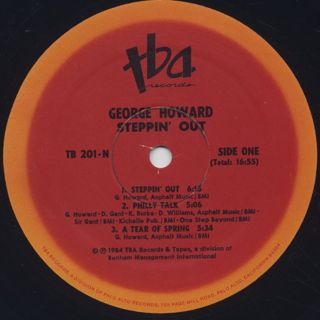 George Howard / Steppin' Out label