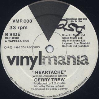 Gerry Trew / Heartache back