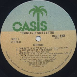 Giorgio / Knights In White Satin label