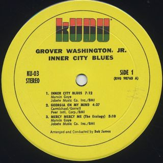 Grover Washington, Jr. / Inner City Blues label