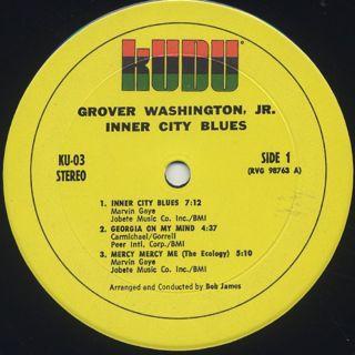 Grover Washington, Jr. / Inner City Blues label