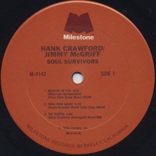 Hank Crawford / Jimmy McGriff / Soul Survivors label