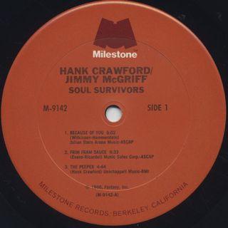 Hank Crawford / Jimmy McGriff / Soul Survivors label