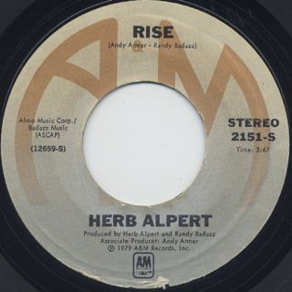 Herb Alpert / Rise c/w Aranjuez