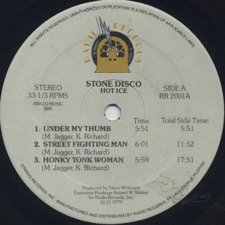 Hot Ice / Stone Disco label