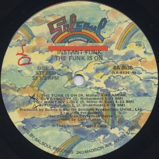 Instant Funk / The Funk Is On label