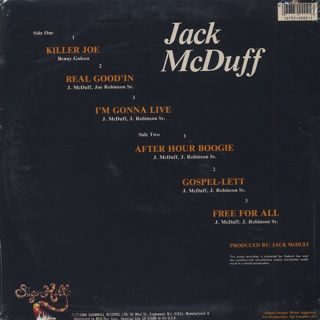 Jack McDuff / Live It Up back