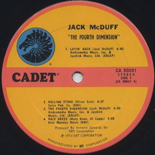 Jack McDuff / The Forth Dimension label