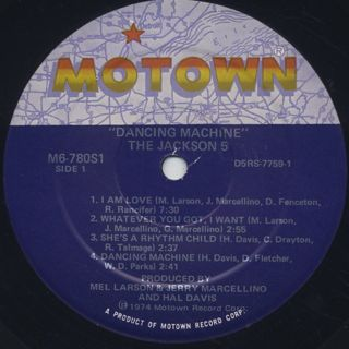 Jackson 5 / Dancing Machine label