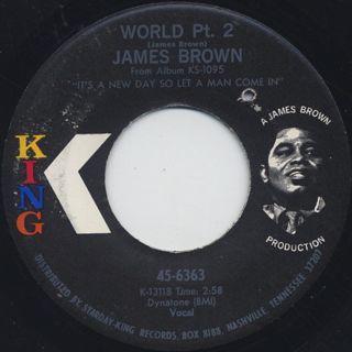 James Brown / I Cried c/w World Pt. 2 back