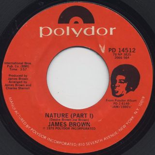James Brown / Nature Part I c/w Part II front