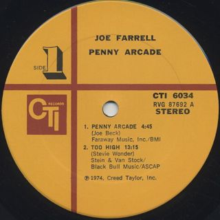 Joe Farrell / Penny Arcade label