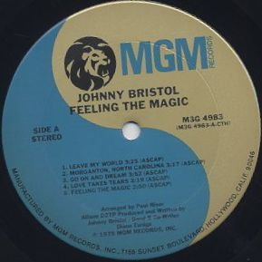 Johnny Bristol / Feeling The Magic label