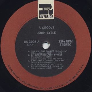 Johnny Lytle / A Groove label