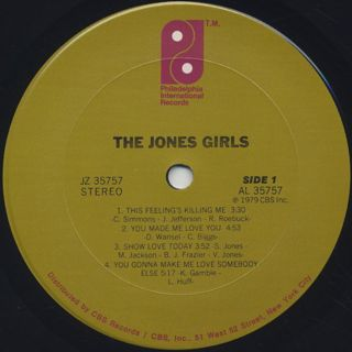 Jones Girls / S.T. label