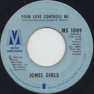 Jones Girls / Your Love Controls Me front