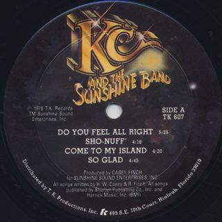 KC And The Sunshine Band / Who Do Ya(Love) label
