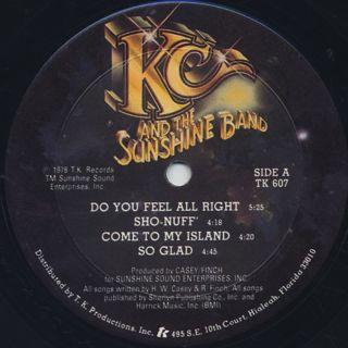 KC And The Sunshine Band / Who Do Ya(Love) label
