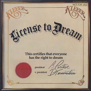 Kleeer / License To Dream