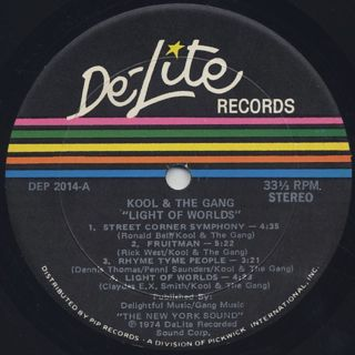 Kool And The Gang / Light Of The Worlds label