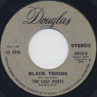 Last Poets / O.D. c/w Black Thighs back