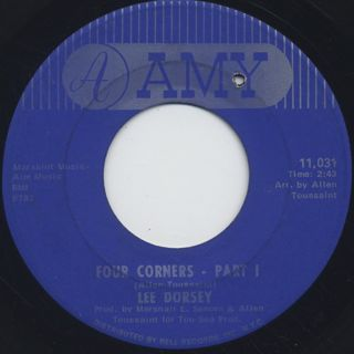 Lee Dorsey / Four Corners Part I c/w Part II front