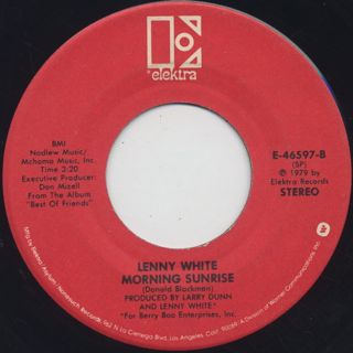Lenny White / Best Of Friends c/w Morning Sunrise back
