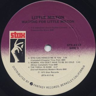 Little Milton / Waiting For Little Milton label