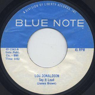 Lou Donaldson / Say It Loud c/w Snake Bone