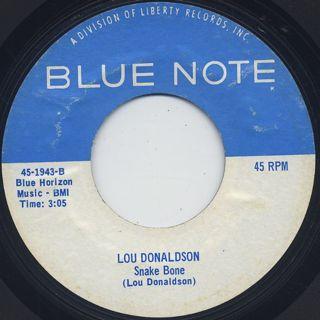 Lou Donaldson / Say It Loud c/w Snake Bone back