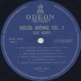 Luiz Bonfa / Violão Boêmio Vol. 2(Violao Boemio vol.2) label
