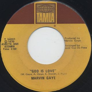 Marvin Gaye / What's Going On c/w God Is Love back