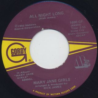 Mary Jane Girls / All Night Long(45) front
