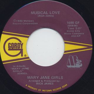 Mary Jane Girls / All Night Long(45) back