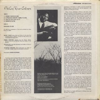 McCoy Tyner / Sahara back