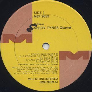 McCoy Tyner / Sahara label
