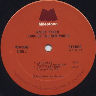 McCoy Tyner / Song Of The New World label