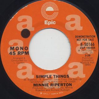 Minnie Riperton / Simple Thing back