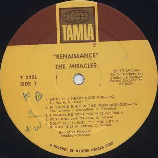 Miracles / Renaissance label