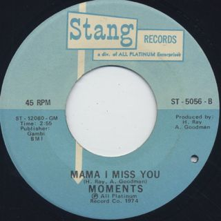 Moments / What's Your Name c/w Mama I Miss You back