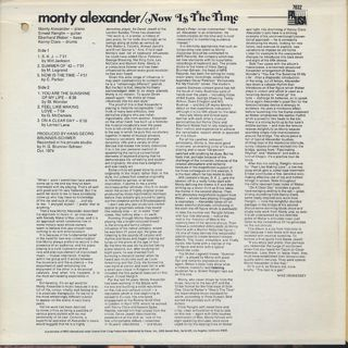 Monty Alexander / Now Is The Time back