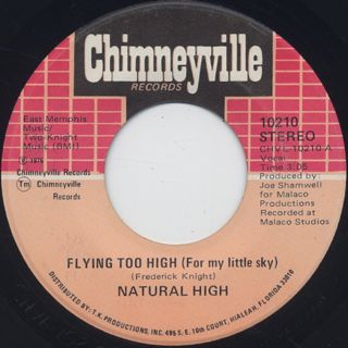 Natural HIgh / Flying Too High c/w I Dont Love Nobody But You