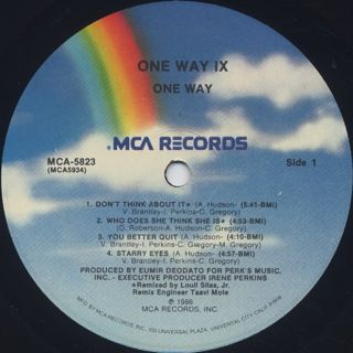 One Way / One Way IX label