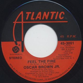 Oscar Brown Jr. / Feel The Fire front