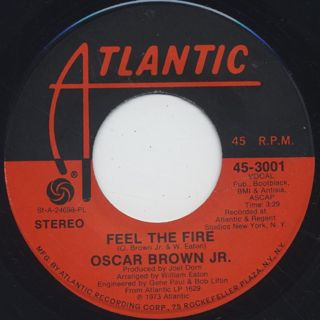 Oscar Brown Jr. / Feel The Fire back