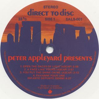 Peter Appleyard / Presents label