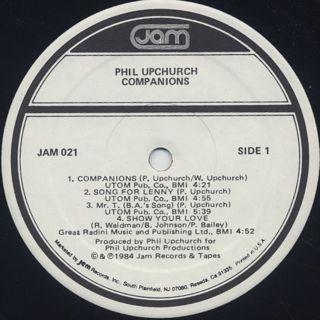 Phil Upchurch / Companions label